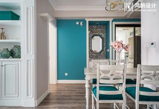 美式两居装修餐厅背景墙图片