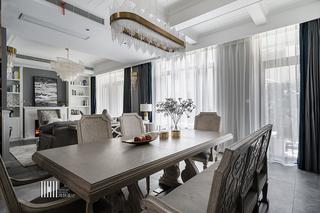 新美式别墅装修餐桌椅图片