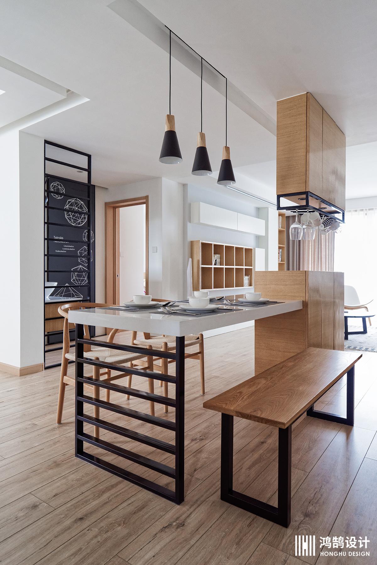 110㎡日式风格家餐桌图片