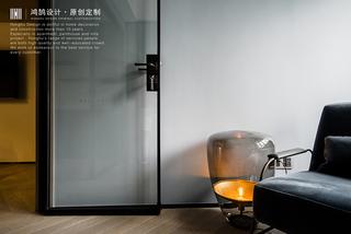 三居室现代风格家透明玻璃门设计