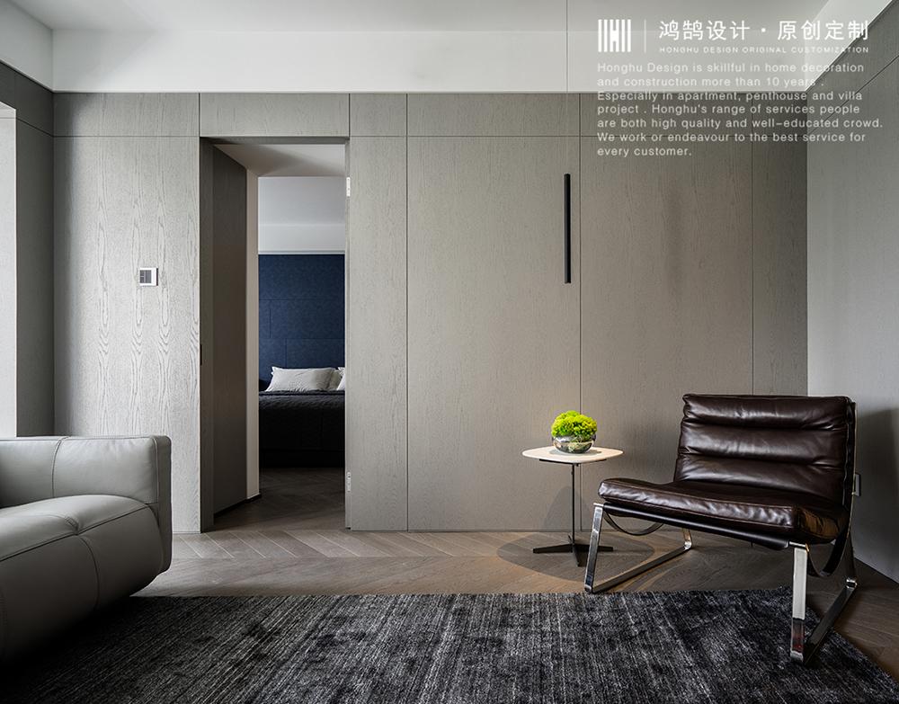 三居室现代风格家隐形门设计