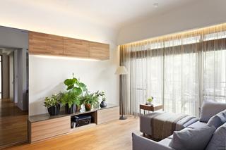 90平现代风格三居装修电视柜设计图