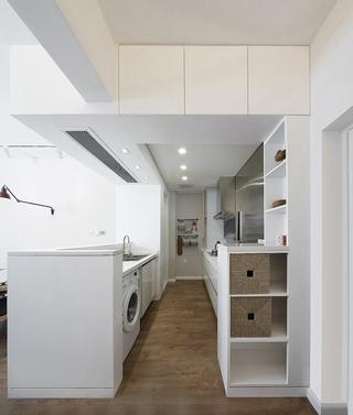 小户型简约二居室装修厨房布局图