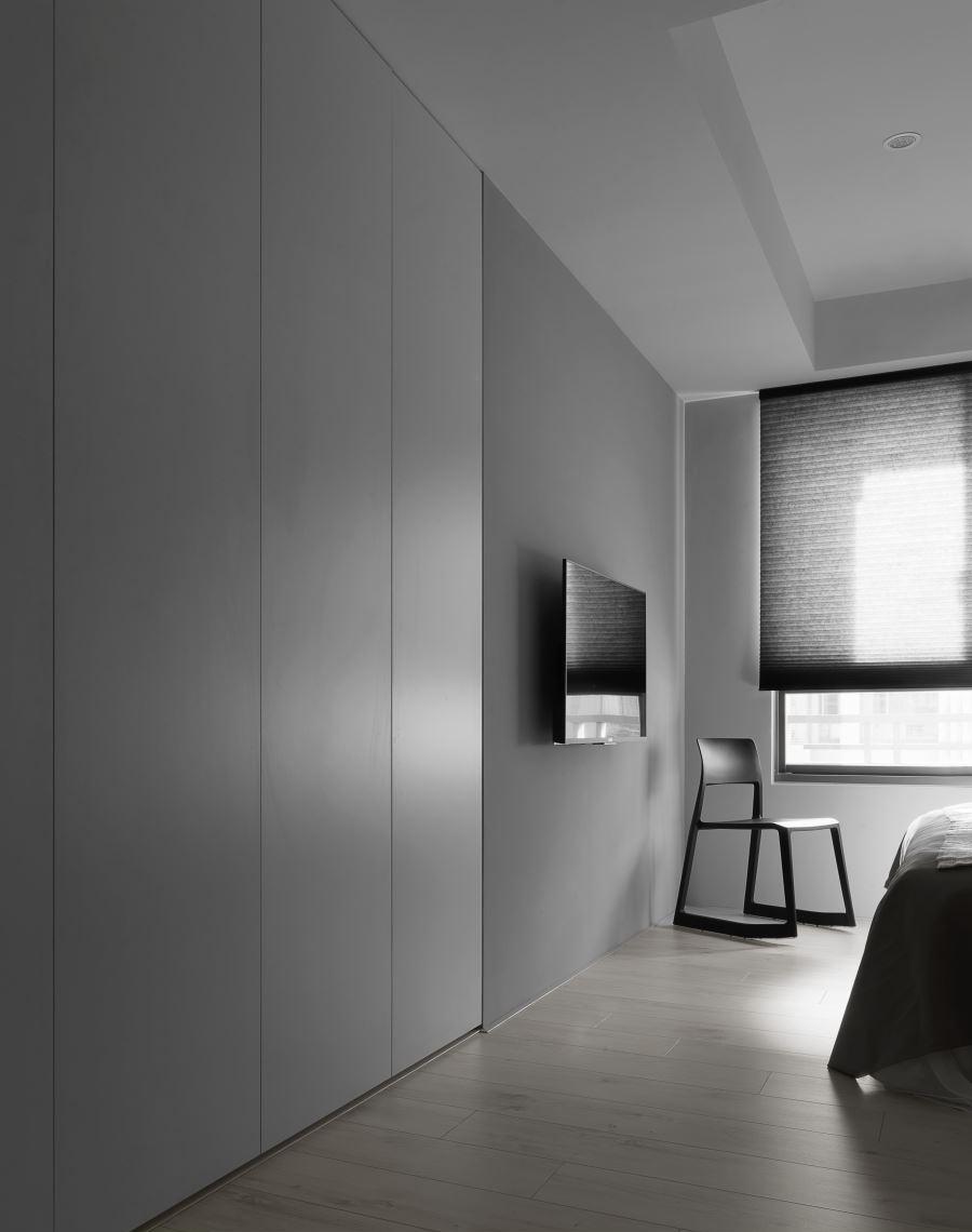 黑白极简现代风装修电视背景墙设计图