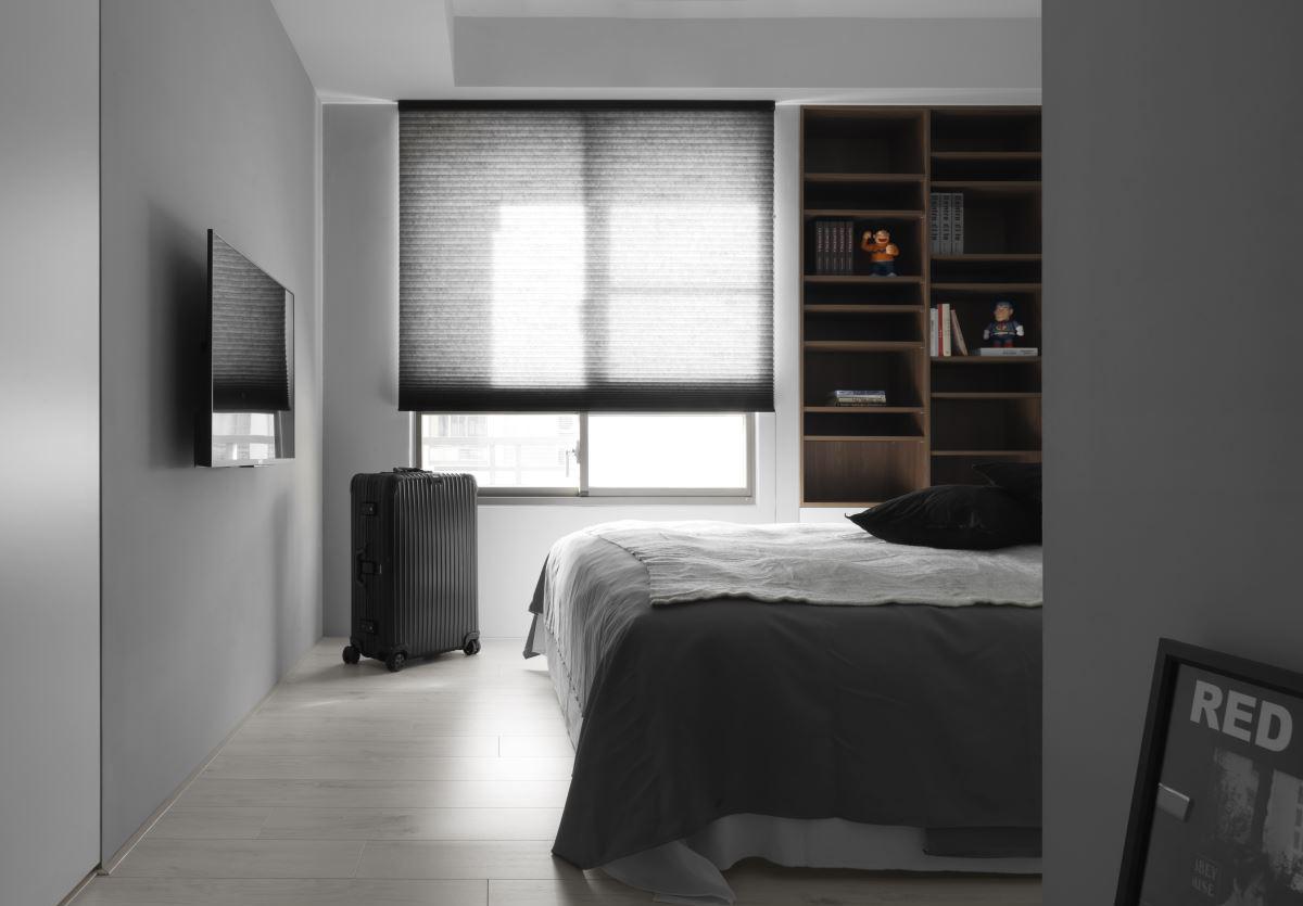 黑白极简现代风卧室装修效果图