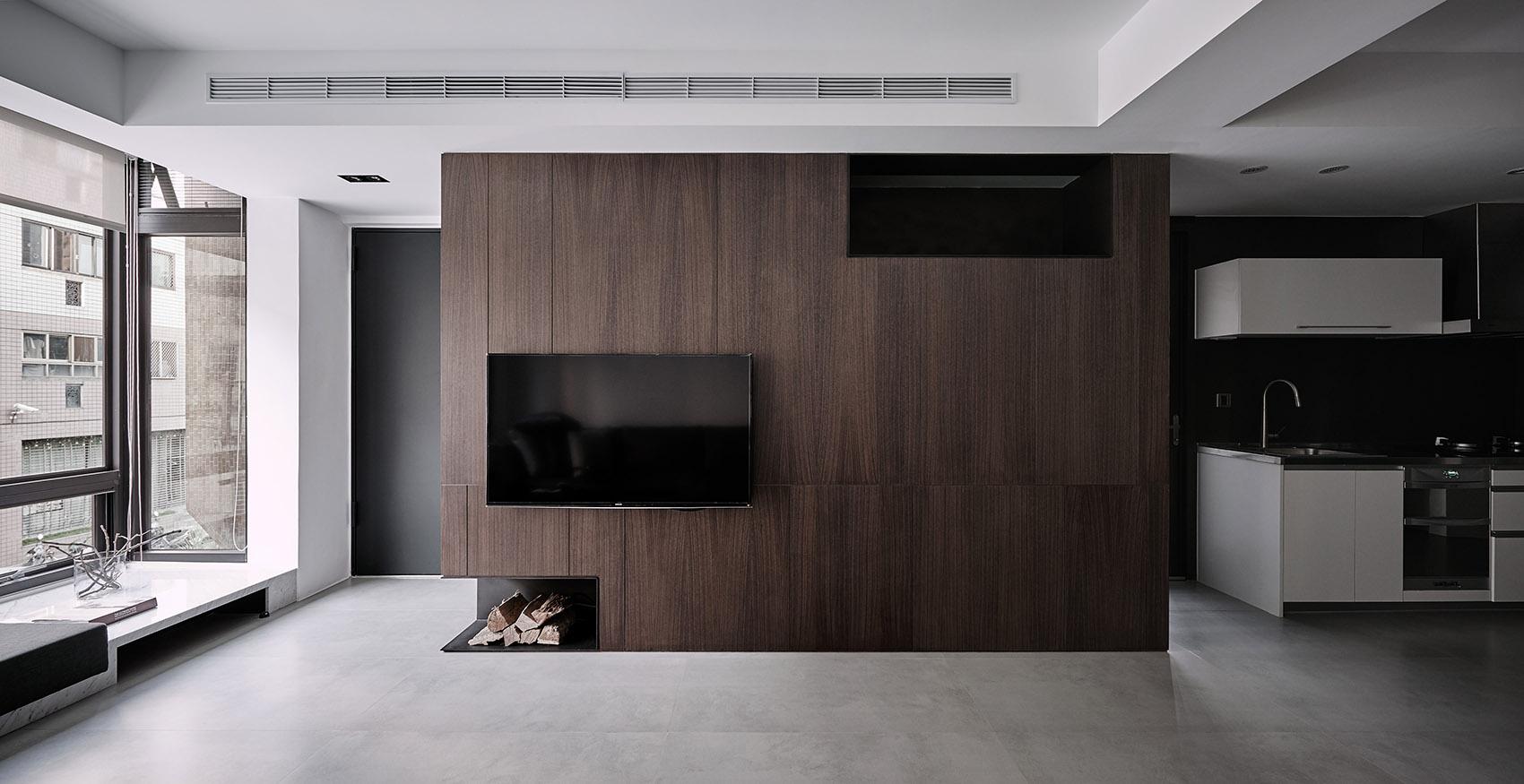 122平现代时尚简约风装修电视背景墙效果图