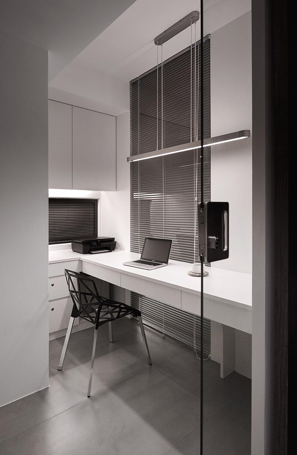 122平现代时尚简约风书房装修效果图