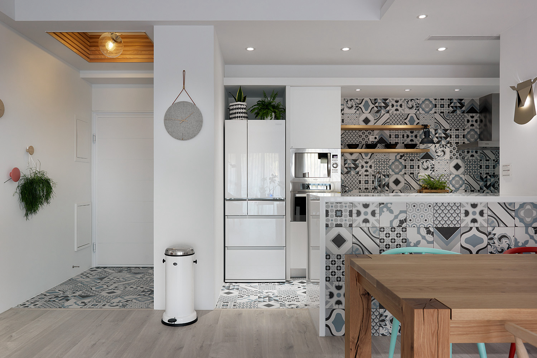 115㎡北欧风格三居装修厨房搭配图