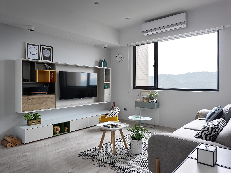 北欧风三居装修电视背景墙效果图