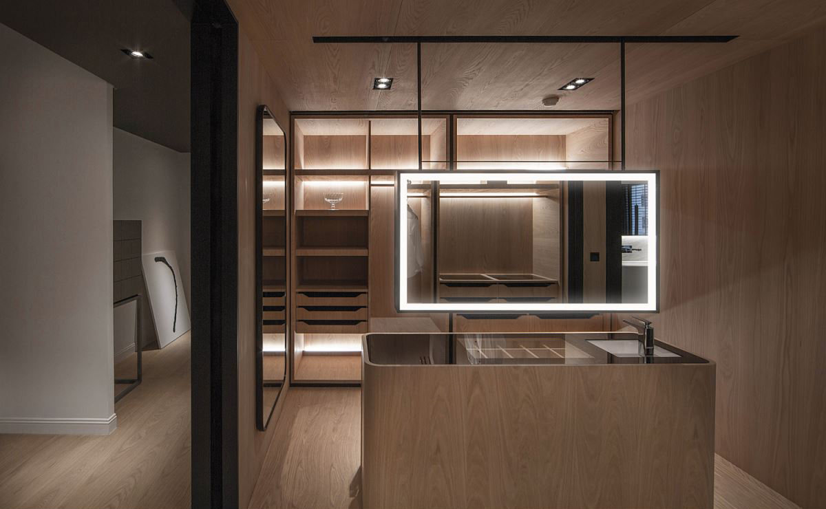165㎡现代风格三居装修灯柜装饰设计图