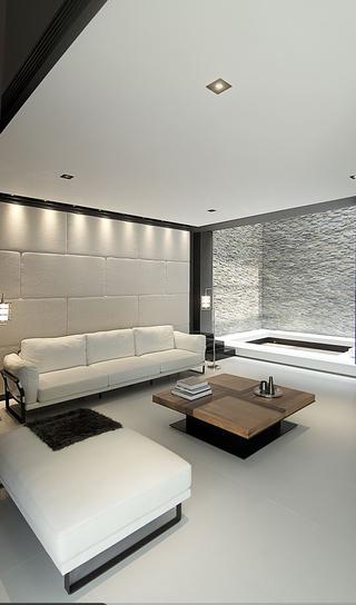 现代风格复式别墅装修客厅效果图