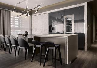 大户型现代风格家餐桌椅图片