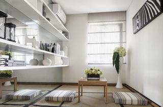 现代风格二居室装修书房效果图