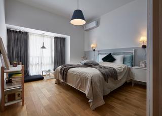 95平北欧风装修卧室布置图