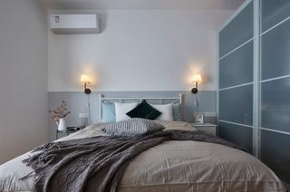95平北欧风装修卧室背景墙设计图