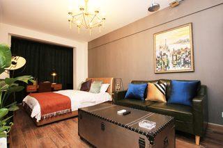 小户型复古现代风格装修沙发背景墙图片