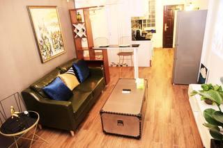 小户型复古现代风格装修沙发设计图