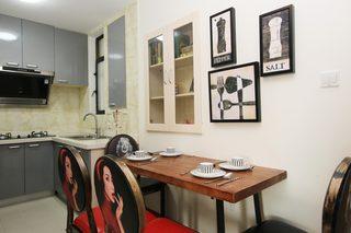 85㎡现代风格二居室装修餐厅背景墙效果图