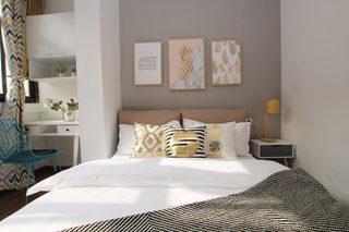 小户型北欧简约风格装修卧室背景墙效果图