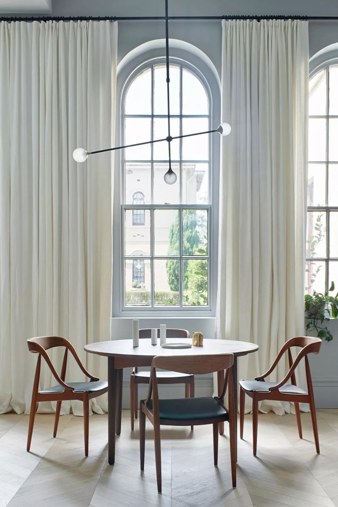 90㎡北欧风二居装修窗帘设计图