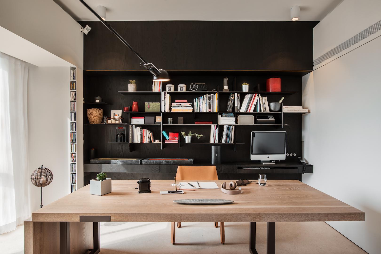 168平米现代风格书房装修效果图