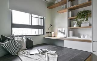 现代混搭风格三居榻榻米卧室装修效果图