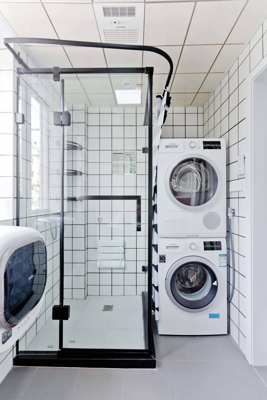 小户型简约一居室装修淋浴房效果图