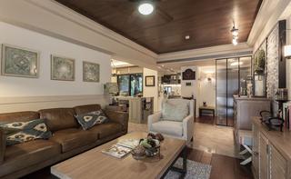 89㎡美式风格二居装修设计图