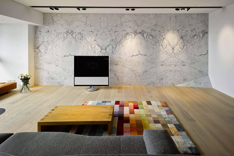 155㎡三居室设计电视背景墙装修效果图