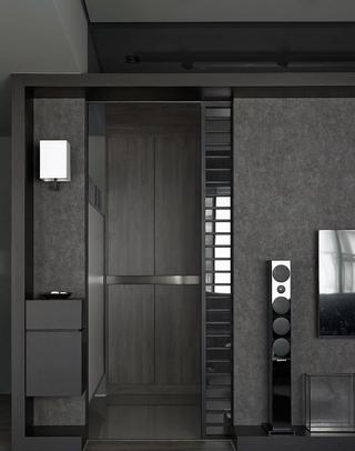 高级灰现代风格公寓装修鞋柜设计图