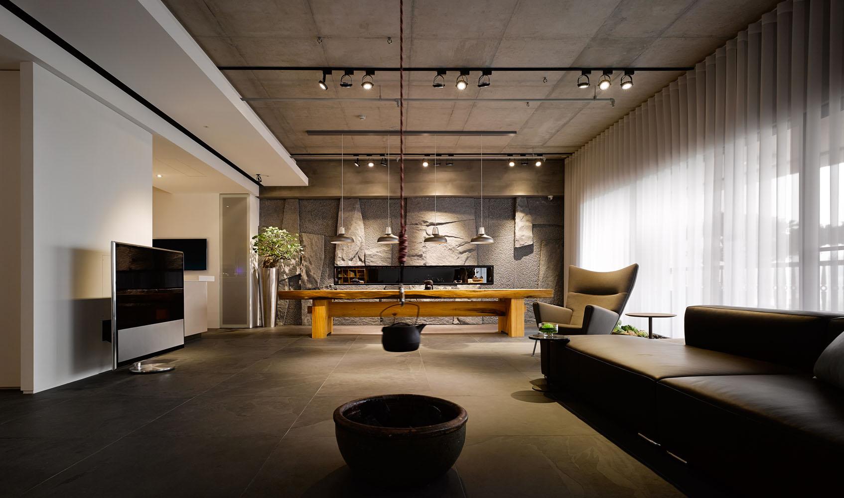 大户型台式风格客厅吊顶装修效果图