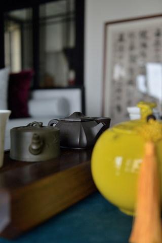 新中式风格三居室装修客厅小景