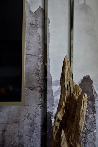 新中式风格三居室装修客厅局部细节图
