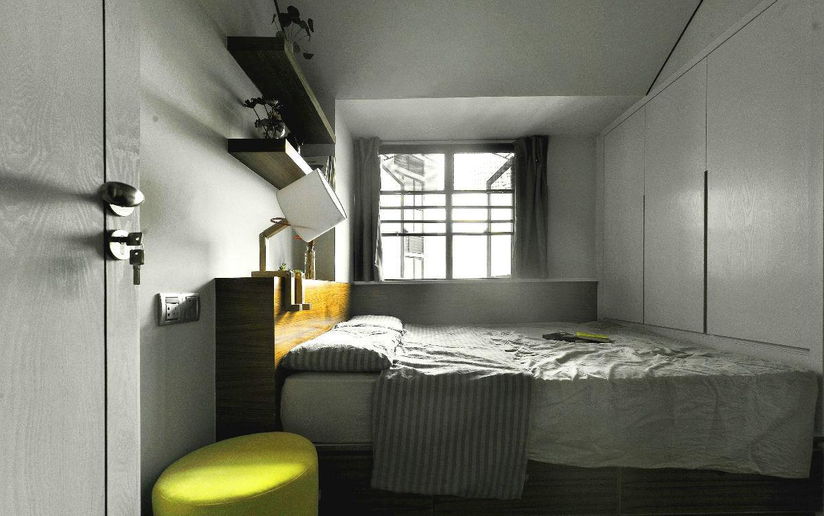 现代简约三居室装修飘窗设计图