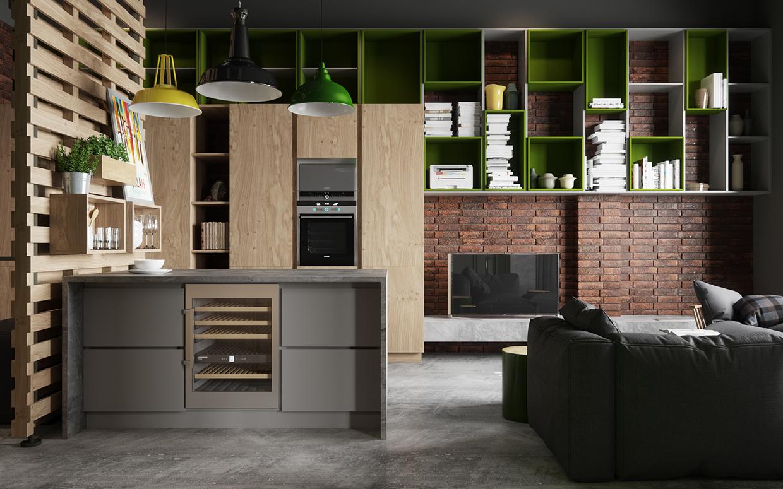 45平工业风公寓装修装饰储物柜设计图