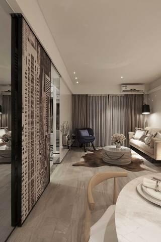 现代北欧风格二居客厅装修效果图