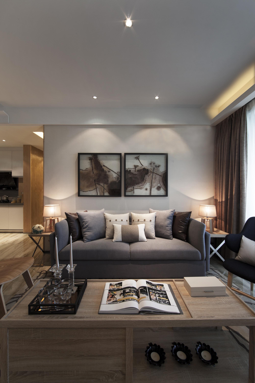 三居室现代风格沙发背景墙装修设计效果图