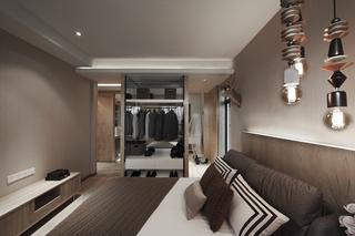 三居室现代风格装修衣柜设计效果图