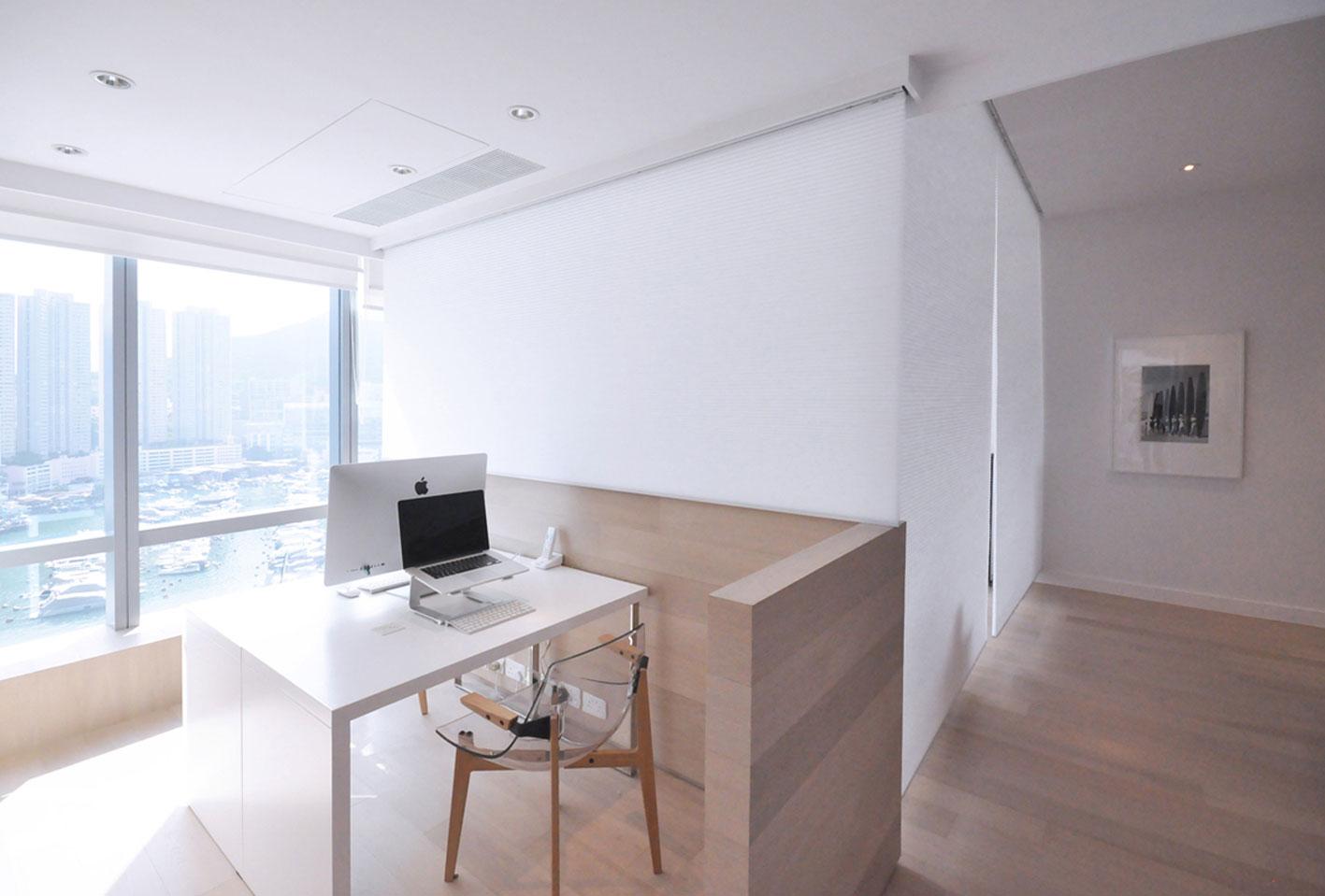 北欧简约风格一居室装修书桌设计图