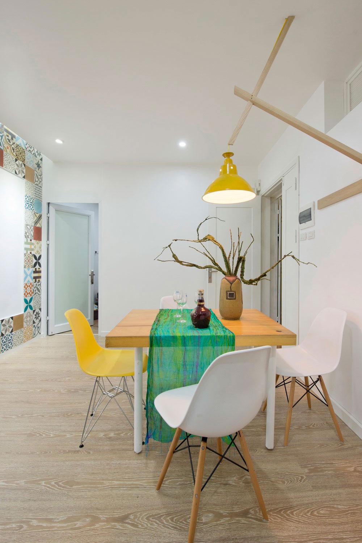 96㎡简约风格两居装修餐桌椅设计图