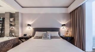 135平北欧风格三居床头背景墙装修效果图