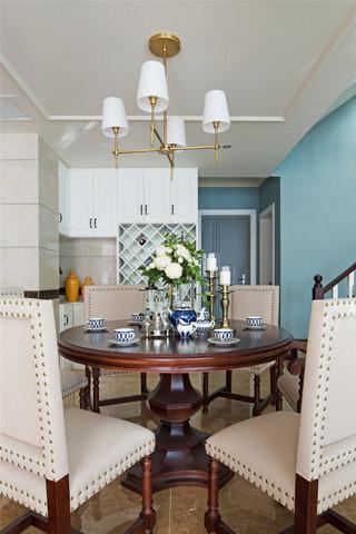 350平米美式别墅装修餐桌椅设计图