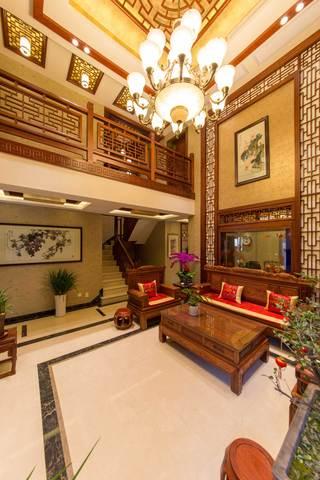 400平中式风格别墅装修沙发背景墙设计图