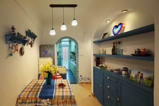地中海风格二居室餐厅装修效果图