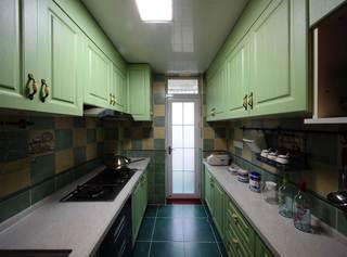 地中海风格二居室厨房装修效果图