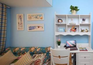 地中海田园混搭三居装修书桌设计图
