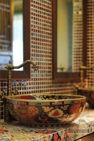 东南亚风格二居室装修台盆特写