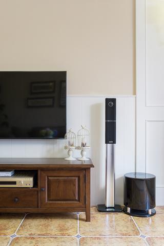 130㎡法式乡村风格电视背景墙装修效果图