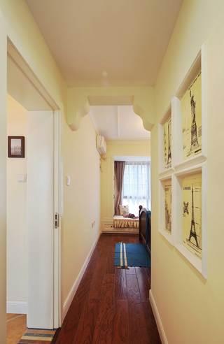 130平美式乡村风格装修卧室过道