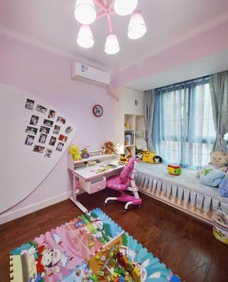 130平美式乡村风格装修儿童房一角